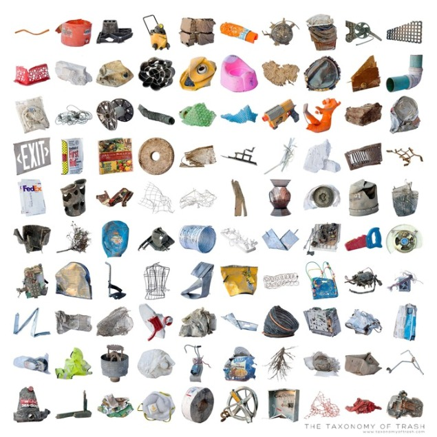 The Taxonomy of Trash was a collaborative effort led by artist Tim Eads where the team sourced, analyzed and categorized objects from RAIR's waste stream.