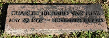 """Gravestone of Charles Richard Van Hise  Originator with Robert La Follette of """"The Wisconsin Idea"""" and Author of Early Textbook on Natural Resource Conservation Forest Hill Cemetery, Madison, Wisconsin (William Cronon)"""