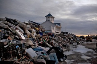 Debris in Long Branch (Allison Joyce, Getty Images).