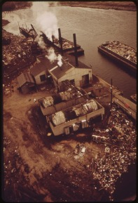 Docks at Fresh Kills. 05/1973. Photo by Chester Higgins.