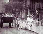 A street sweeper in New York City, ca. 1900. From http://www.dsnyoralhistoryarchive.org