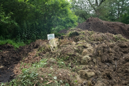 One of the compost piles at The Dump.