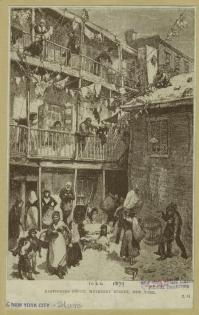 Ragpickers court, Mulberry Street, New York. (1882). NYPL>