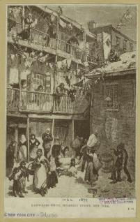 Ragpickers court, Mulberry Street, New York. (1882). NYPL>