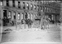 November 1911, during the garbage strike.