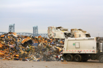 "Post-Sandy ""short dump"" at Jacob Riis Park. November 13, 2012. Photo by Michael Anton, DSNY."