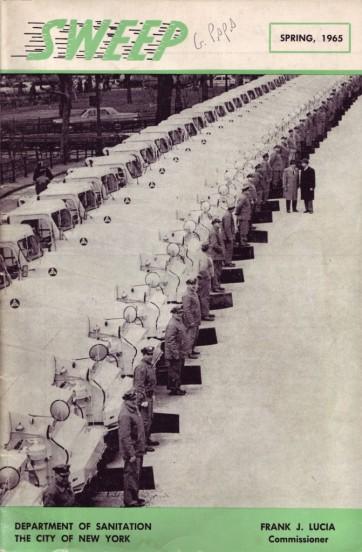 "New York's Sanitation Department's quarterly magazine called ""Sweep."" 1960s. Image courtesy DSNY."