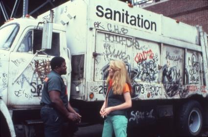 Mierle Laderman Ukeles. Touch Sanitation, 1977–1980.