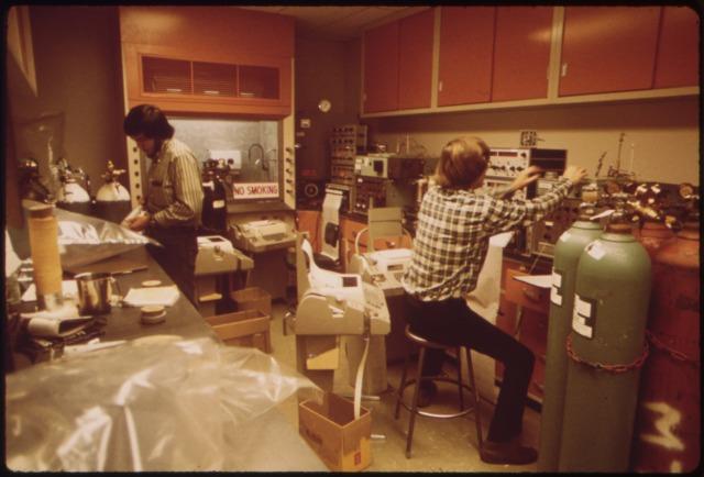 California Air Resources Board Laboratory, Los Angeles, in 1973.