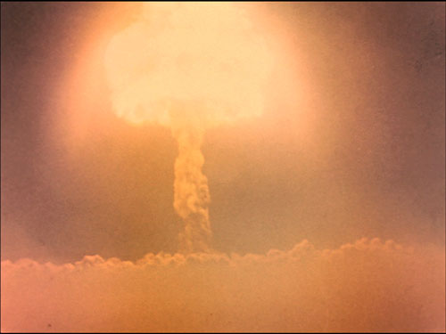 Harold Edgerton, still from Photography of Nuclear Detonations, 1950.