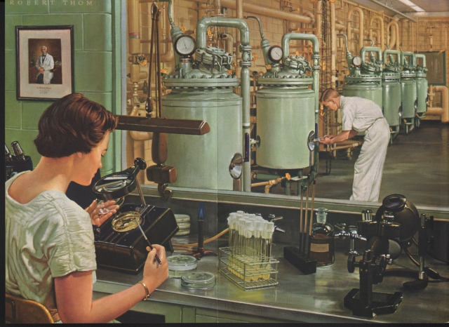 """The Era of Antibiotics"" by Robert A. Thom, 1950s."