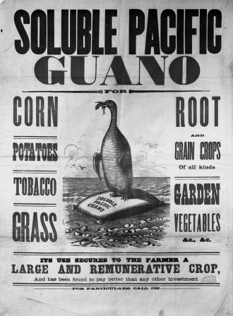 19th century advertisement for guano.