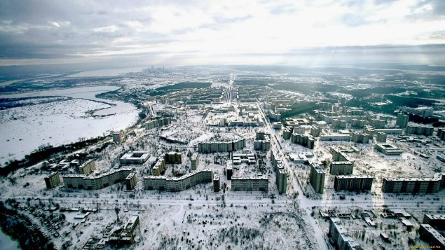 Image of Chernobyl, where a catastrophic nuclear accident  occurred on 26 April 1986 at the Chernobyl Nuclear Power Plant in Ukraine.