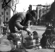 Food Not Bombs diner and-or volunteer, Tompkins Square Park, New York City, 1996. Photograph courtesy Vikki Law.